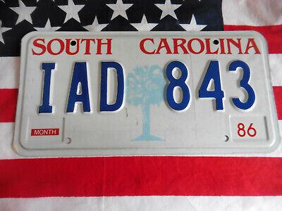 US SOUTH CAROLINA IAD 843 PALME AUTO CAR KENNZEICHEN NUMMERNSCHILD TAG PLATE USA