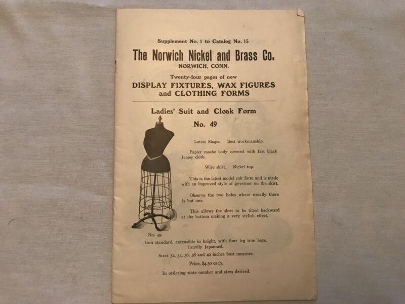 Norwich Nickel & Brass Co. Vintage Store Display Catalog, Norwich, Conn.