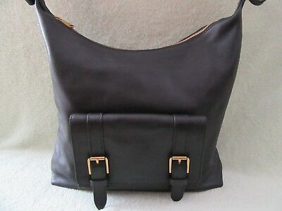 (Fossil Cleo Black Soft Leather 1 Strap Shoulder/Hobo Bag Really Nice NWT)