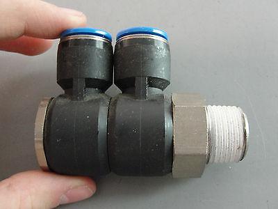 Festo Hydraulic Pneumatic Adjustable Push In L Gang Fitting 12mm Tube 58 Thread