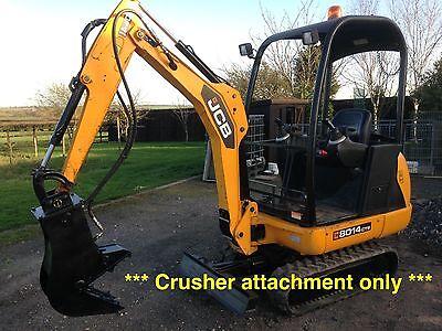 mini digger pulveriser / concrete muncher crusher / excavator / kubota / HARDOX