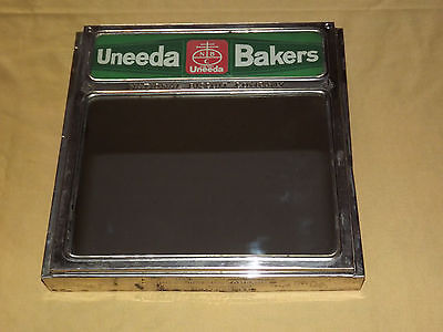 VINTAGE OLD 1920S UNEEDA BAKERS NATIONAL BISCUIT COMPANY MIRROR DISPLAY COVER