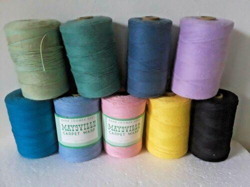 Lot Of 9 Spools Of Vintage Maysville Cotton Rug Warp New & Used