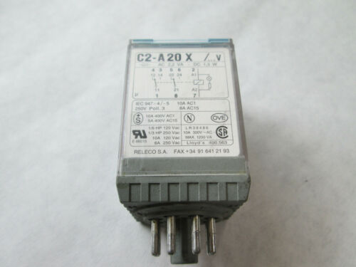 Releco C2-A20X Cube Relay  (8 Pin Round , 120 Volt)