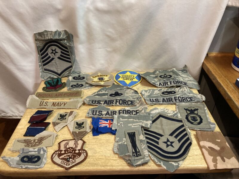 Lot Of 24 Military And Police Patches Cut Off Shirts P 56