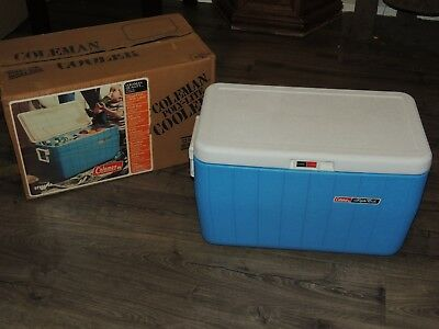 (RARE Vintage Coleman Cooler Model 5286 Poly-Lite EXCELLENT ORIGINAL BOX!)