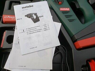 Metabo Bha 18 Hammer Drill Li-power 20 Air Cooled