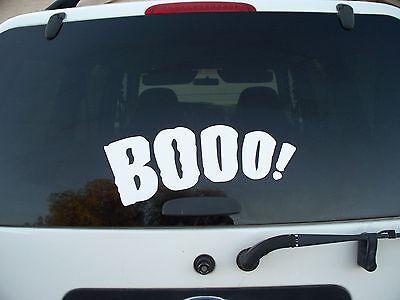 Halloween Car decal vinyl quote words wall door hoilday removeable Boo spooky](Halloween Quote)