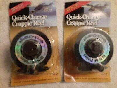 2 quick change crappie reels. New