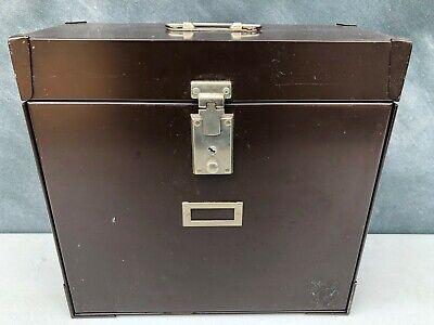 Vintage Heavy Industrial Metal File Case Document Lock Box - Expandable