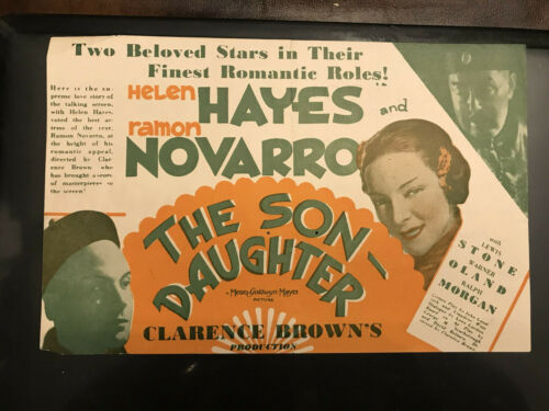 "The Son-Daughter 1930 MGM 6x9"" herald Ramon Novarro Helen Hayes Warner Oland"