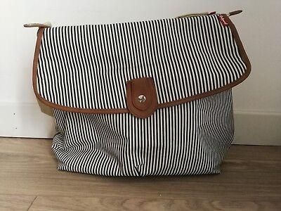 Babymel Changing Bag Satchel Stripe with changing mat