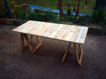 Rustic Recycled Pallet Trestle Tables and Coffee Tables Glenhaven The Hills District Preview