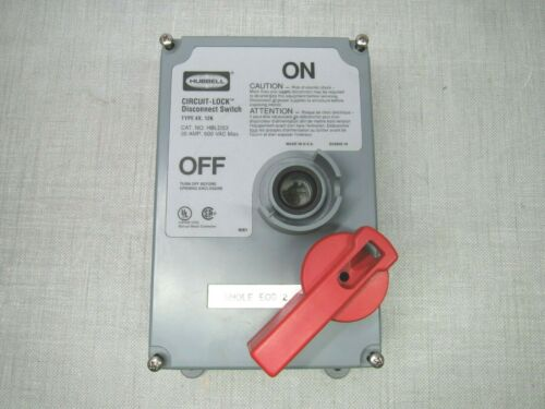 Hubbell Circuit-Lock HBLDS3 Type 4X,12K