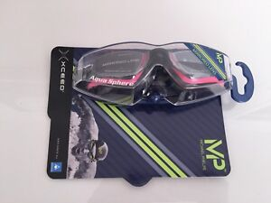 MP Michael Phelps XCEED Ladies Mirrored Goggles - Pink / Black