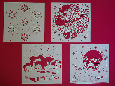 4 Create-a-Card Die-Cut & Embossed Christmas Toppers (Set 2)