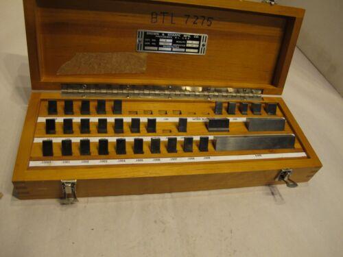 Johansson Gage Block Set Thrift Blocks in fitted wooden case Brown & Sharpe No.2