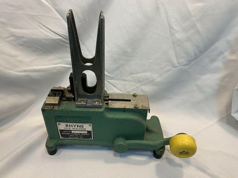 RYHME FLORAL Supply Pick Machine *WORKS*