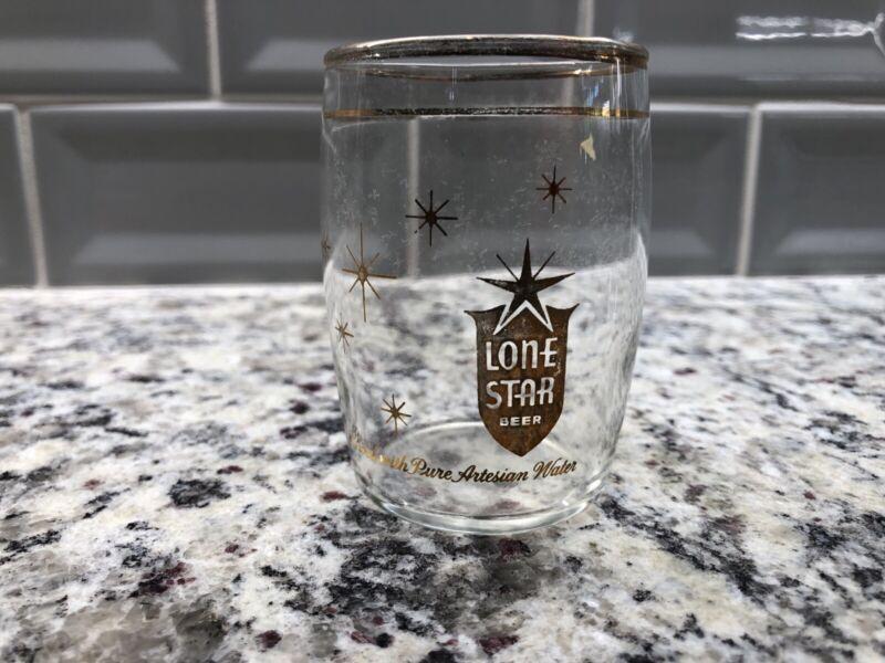 Lone Star Beer Barrel Glass