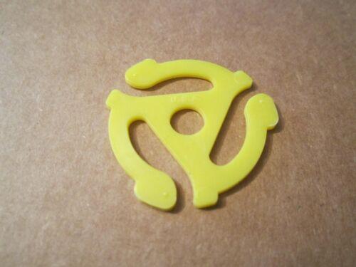 "50 Yellow Plastic Adaptors for 45 RPM Vinyl 7"" Record Adapter USA MADE original"