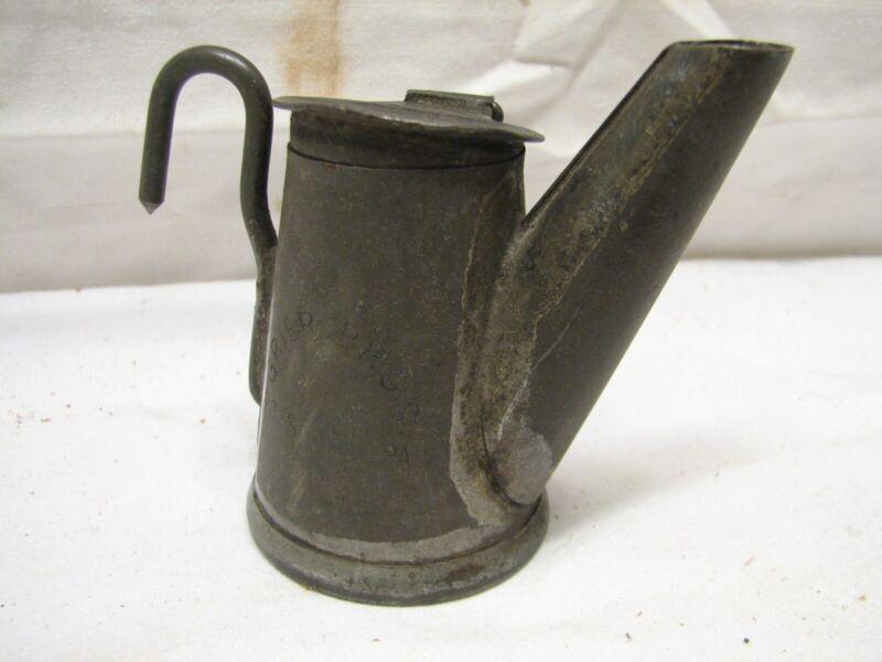 Antique Tin Miners Lamp Grier Bros Mining Hat Teapot Lantern Pittsburgh PA