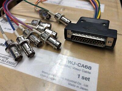 PANASONIC WJ-CA68 D-SUB / BNC LOOP THROUGH VIDEO CABLE FOR WJ-SX650 MATRIX