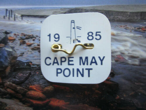 1985  CAPE  MAY POINT  NEW  JERSEY SEASONAL  BEACH  BADGE/TAG   36  YEARS  OLD
