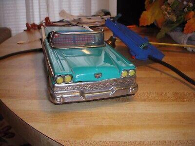 Vintage Battery Op Tin Toy Car 1959 Ford Convertible Hardtop sssBandaihaji Japan