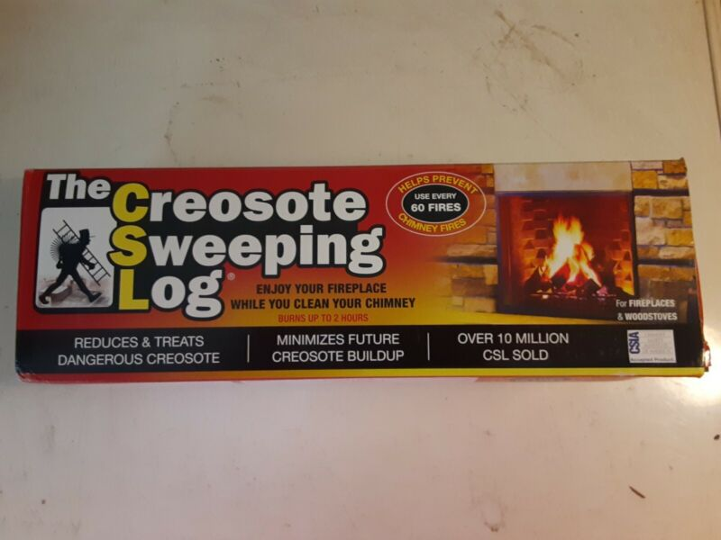 NEW Imperial Creosote Sweeping Log Fireplace * Woodstove * Chimney Cleaner