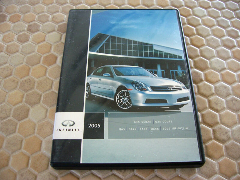 INFINITI G35 Q45 FX QX56 M CD PRESS KIT BROCHURE AND DVD 2005 USA EDITION