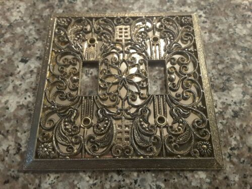 American Tack Hardware Double Switch Plate Ornate mirrored