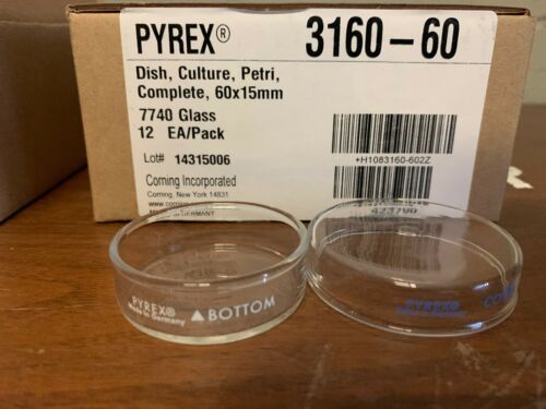 3160-60 Corning PYREX® Dish, Petri, with Cover, 60 x 15 mm *Case of 12*