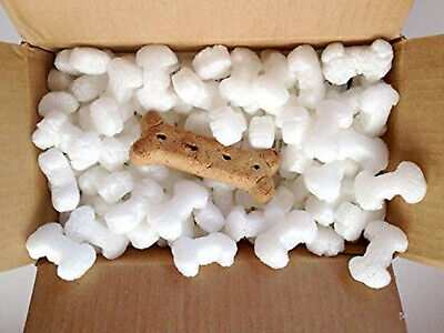 Funpak Packing Peanuts Dog Bone Shaped 1.5 Cu Ft Bag Compostable Biodegradable