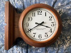 Antique 1920's Double Sided Railroad/School House Clock