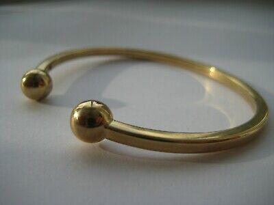 Yellow Gold Torque bangle 9 carat ladies