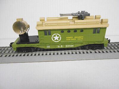 LIONEL 1923100 -S U.S ARMY SECURITY CABOOSE SEARCHLIGHT O GAUGE TRAIN NEW
