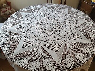 ☆ Vintage Lace Tablecloth - Square - Star Pattern ☆
