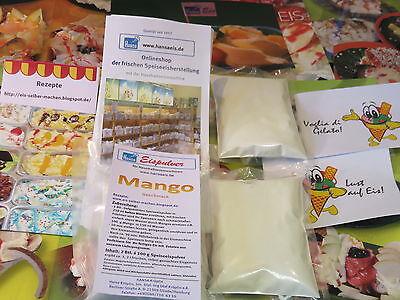 (1,30€/100 g) Mango Eispulver  für Haushaltseismaschinen, Eis selber