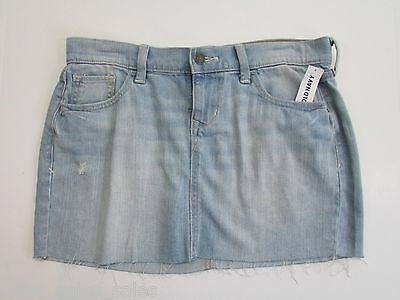 Womens Jeans Skirt Size 4 Mini Old Navy Stretch Frayed Distressed