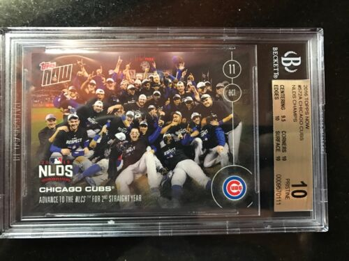 Topps Now Card 572a: Chicago Cubs Head To The Nlcs Bgs 10 Pristine