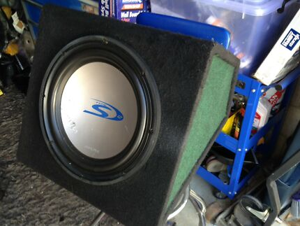 "Alpine 12"" Type S Subwoofer in Jaycar Sealed Enclosure"