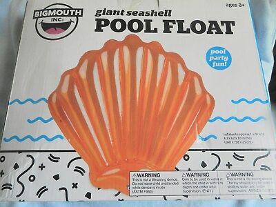 NEW Bigmouth Giant Seashell  Float Orange5' 2