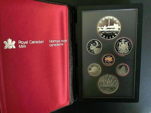 1984 Royal Canadian Mint + Proof Set w/ Silver Dollar + 7-Coin Set
