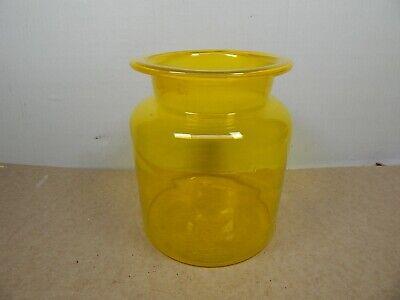 antique Hand Blown VASELINE Radium GLASS General Store Large JAR CANISTER