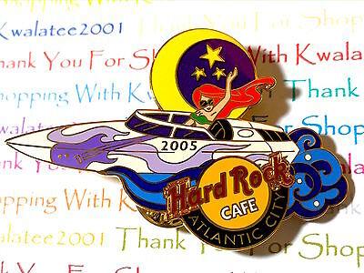 Hard Rock Cafe Atlantic City Night Boat Girl Pin 2005 HRC AC LE NEW  # 28470