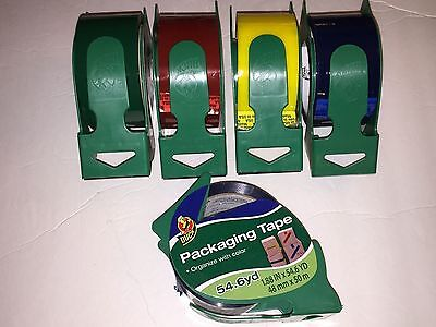 Duck Packaging Tape 1.88 X 54.6 Yards Yellow Red Blue Or Green