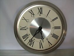 15 Stainless Steel Frame Wall Clock w/ Metal Tradition Dial USA Quartz Movement