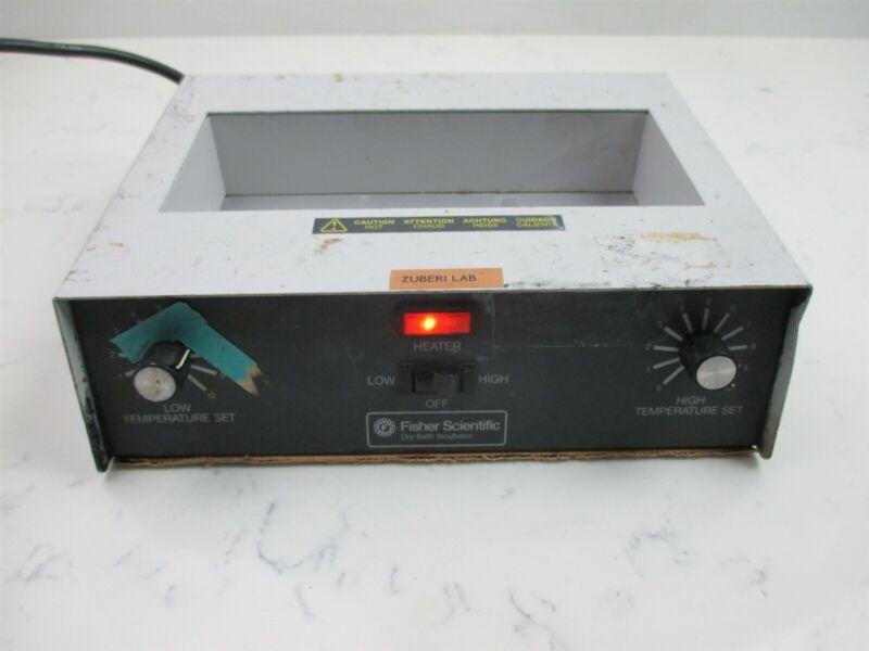 Fisher Scientific Dry Bath Incubator Dual Block Laboratory Heater Lab Unit