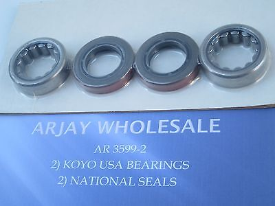 Jeep Dana 35 Axle Bearing Kit Both Sides Left And Right 2 Bearings 2 Seals Usa