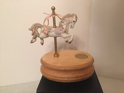Garden Party Music Box (Carousel Horse Music Box - The Garden Party Collection - Plays